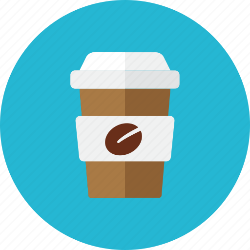 coffee, glass, paper icon