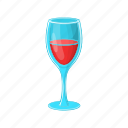 alcohol, beverage, cartoon, glass, liquid, red, wine icon