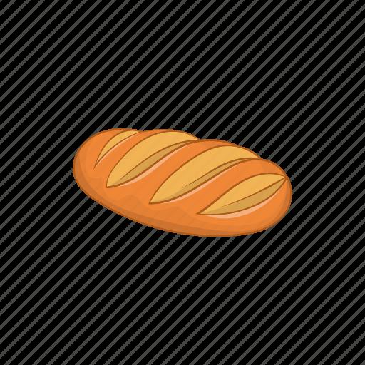 baguette, bakery, bread, breakfast, cartoon, fresh, loaf icon
