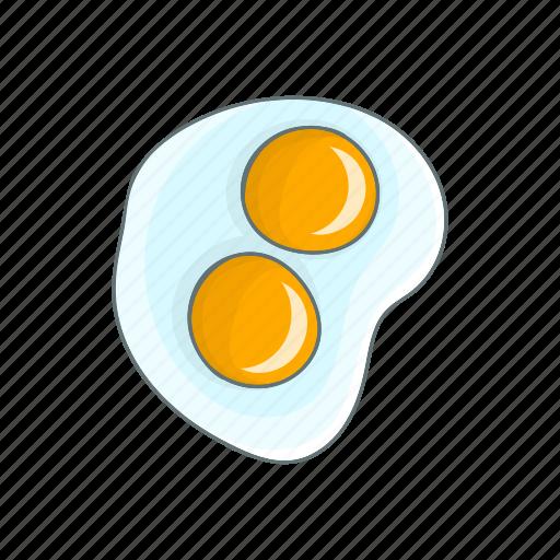 breakfast, cartoon, egg, food, fried, kitchen, meal icon