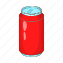 aluminum, bank, beverage, cartoon, drink, soda icon