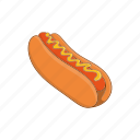 bread, cartoon, dog, food, hot, lunch, sausage icon