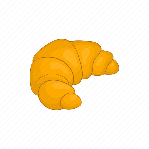 bakery, bread, breakfast, cartoon, croissant, food, fresh icon