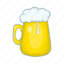 beer, cartoon, design, foam, glass, mug, pint icon