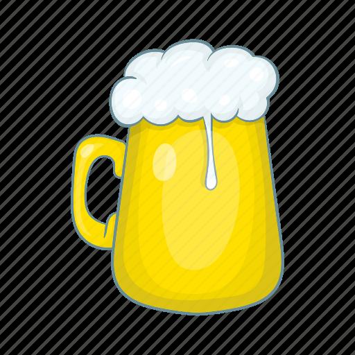 beer, cartoon, design, foam, glass, mug, pint icon