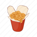 asian, box, cartoon, chinese, color, food, noodles icon