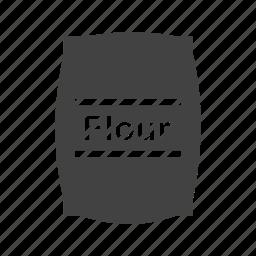 bag, bread, flour, food, grain, wheat, white icon