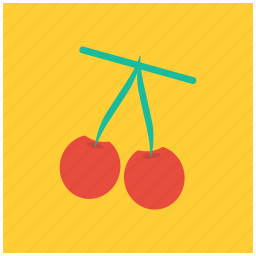 cherries, food, fresh, fruit, healthy, vegetable icon