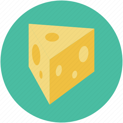 cheese, cheese block, cheese piece, dairy product icon