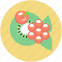 cherry, food, fruits, fruits platter, kiwi slice icon