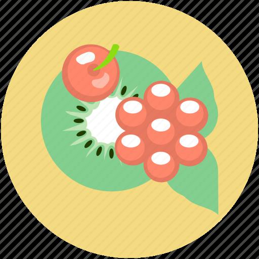 cherry, food, fruits, fruits platter, kiwi slice icon