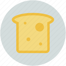 bread, bread slice, breakfast, sandwich, toast icon