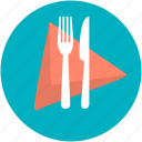 dining, fork, knife, napkin, restaurant icon