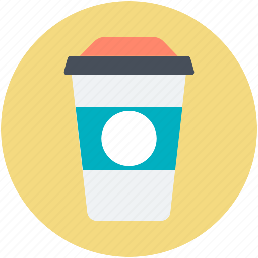 cold coffee, disposable cup, juice cup, paper cup, smoothie cup icon