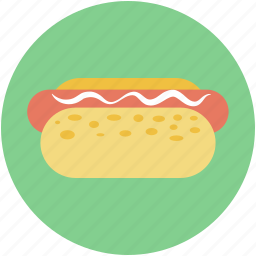 fast food, hotdog, hotdog burger, hotdog sandwich, junk food icon