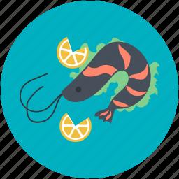 food, healthy eating, prawn, seafood, shrimp icon