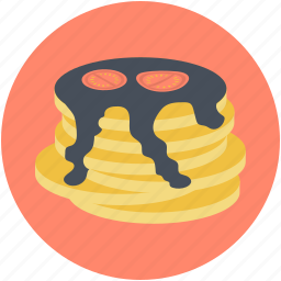 bakery food, breakfast, cake, dessert, pancakes icon