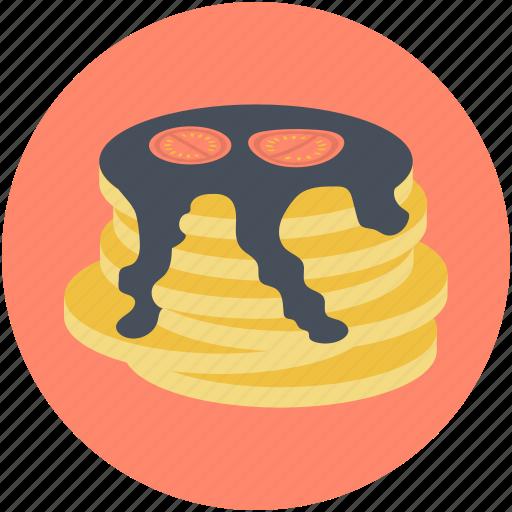 bakery food, breakfast, cake, dessert, pancakes icon