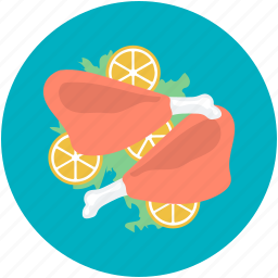 chicken leg, chicken piece, food, leg piece, thigh meat icon