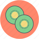 chinese gooseberry, food, fruit, kiwi, kiwi slice icon