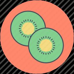 chinese gooseberry, food, fruit, kiwi, kiwi slice icon