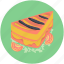 bakery food, cake piece, dessert, pudding cake, sweet food icon
