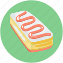 cake piece, dessert, sweet food, bakery food, pudding cake