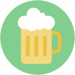 ale, beer, beer mug, chilled beer, drink icon