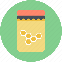 bee honey, honey, honey jar, honey wax, sweet food icon