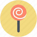 confectionery, lollipop, lolly, sweet snack, swirl lollipop icon
