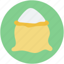 food, food sack, salt sack, sugar bag, sugar pack icon