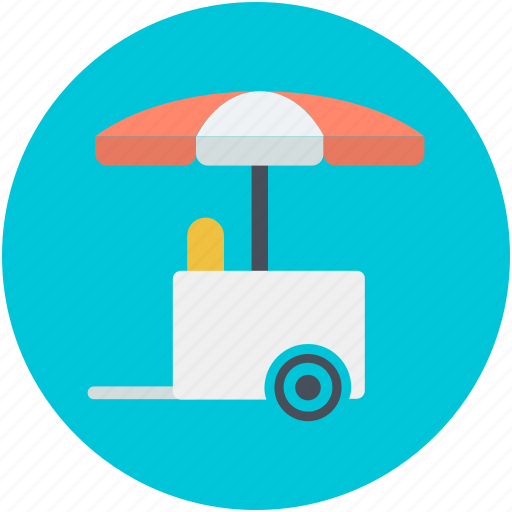 food stand, ice cream bike, ice cream cart, ice cream trolley, vending cart icon
