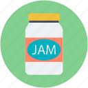 container, jam jar, marmalade, preserved food, savoury spread icon