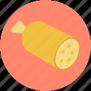cured sausage, meat, pork, salami, salami sausage icon