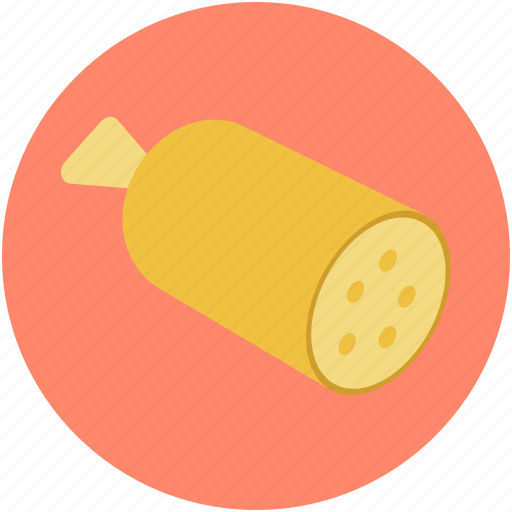 cured sausage, meat, pork, salami, salami sausage icon