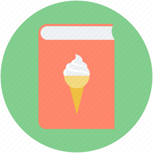 cookbook, cooking book, dessert recipe, ice cream recipe, recipe book icon