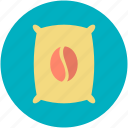 coffee, coffee bag, coffee pack, coffee packet, coffee seed icon