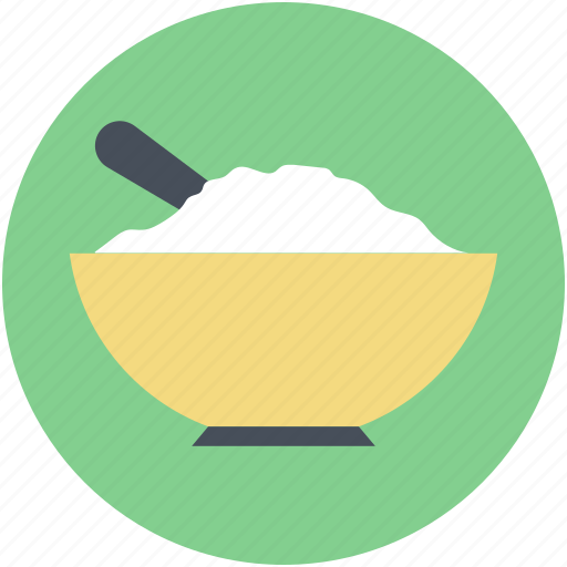 Food, food bowl, meal, rice bowl, spoon icon - Download on Iconfinder