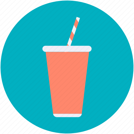 cold coffee, juice cup, paper cup, smoothie cup, straw cup icon