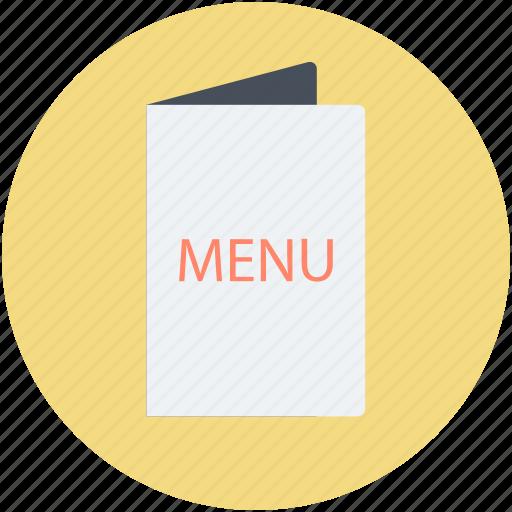 cuisine menu, food menu, menu, menu book, menu card icon