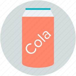 canned drink, cola can, cola tin, fizzy drink, tin pack icon