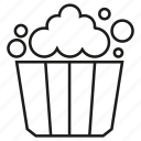 food, popcorn, snack icon