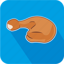 chicken, drumstick, leg, poultry icon