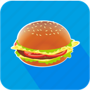 dinner, eating, food, hamburger, restaurant icon