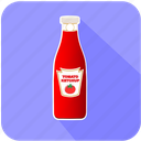 breakfast, eating, food, ketchup, restaurant, tomato icon