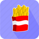 eating, food, junk, potato, restaurant icon