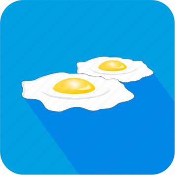 breakfast, dinner, eating, eggs, food, restaurant icon