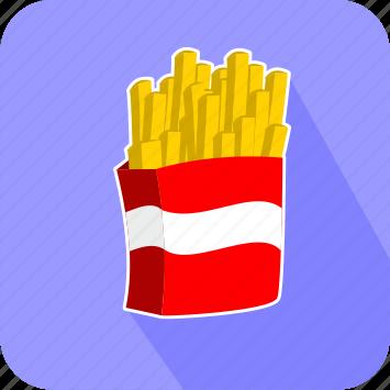 eating, food, junk, potato, restaurant icon