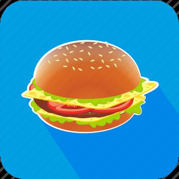 dinner, eating, food, hamburger, restaurant icon