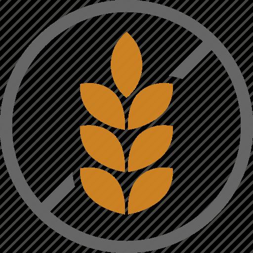 allergy, dietary, food, free, gluten, label, wheat icon